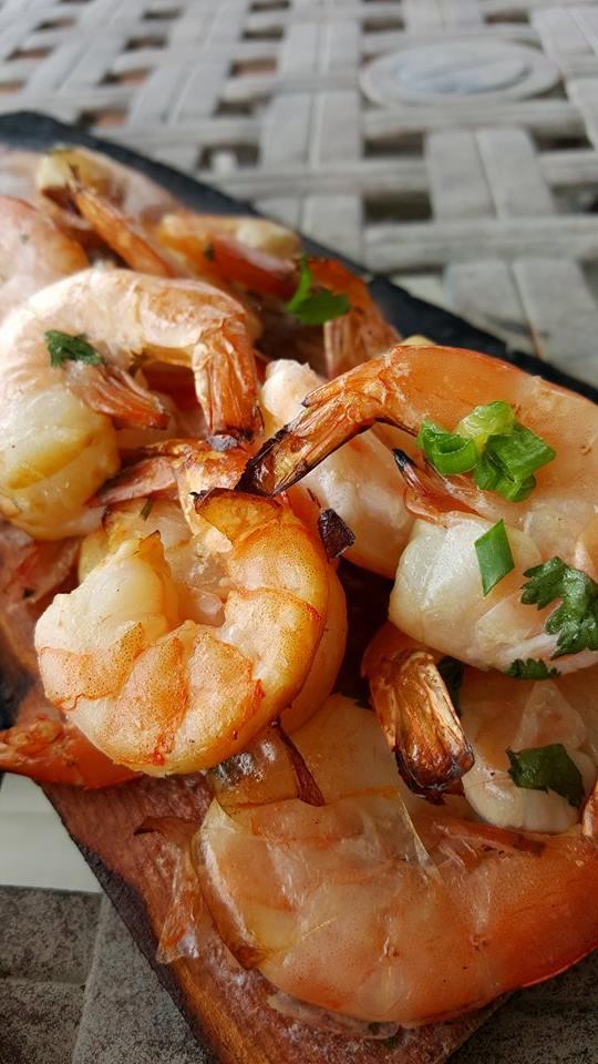 grilled shrimp planks