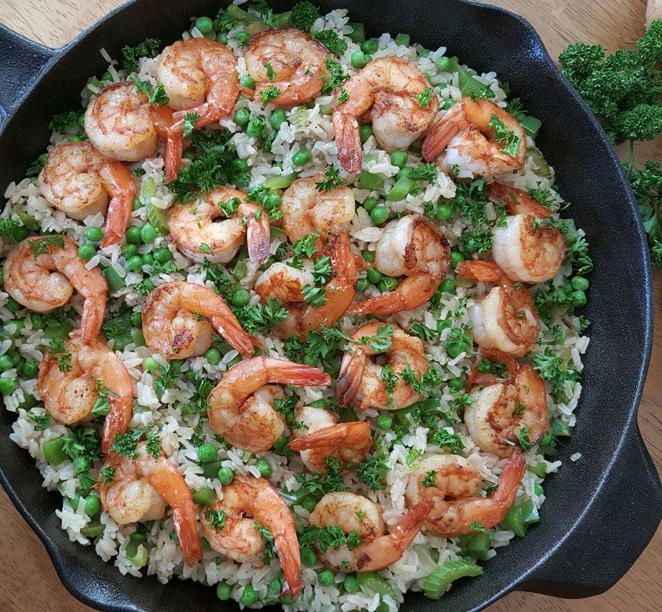 Fast Easy 1 Pan Shrimp Dinner