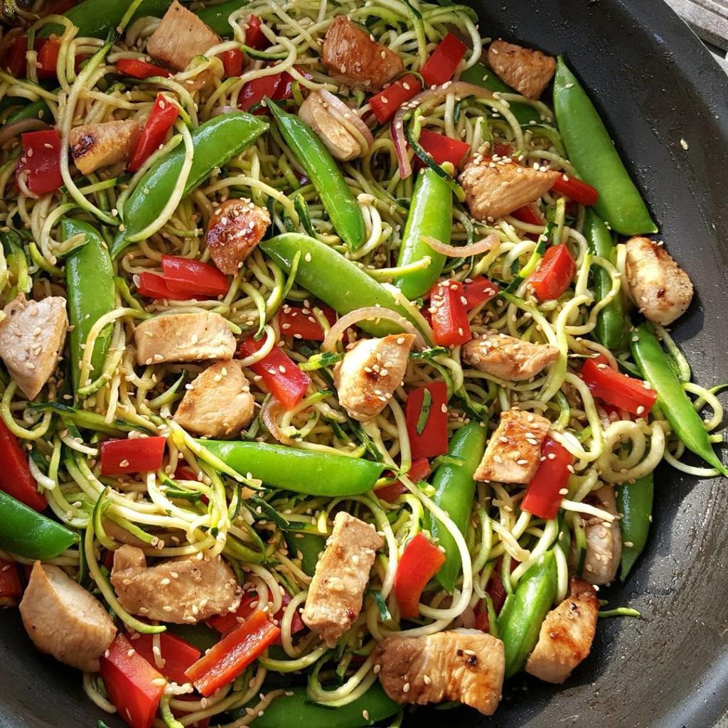 Asian Zucchini Noodle Stir-Fry