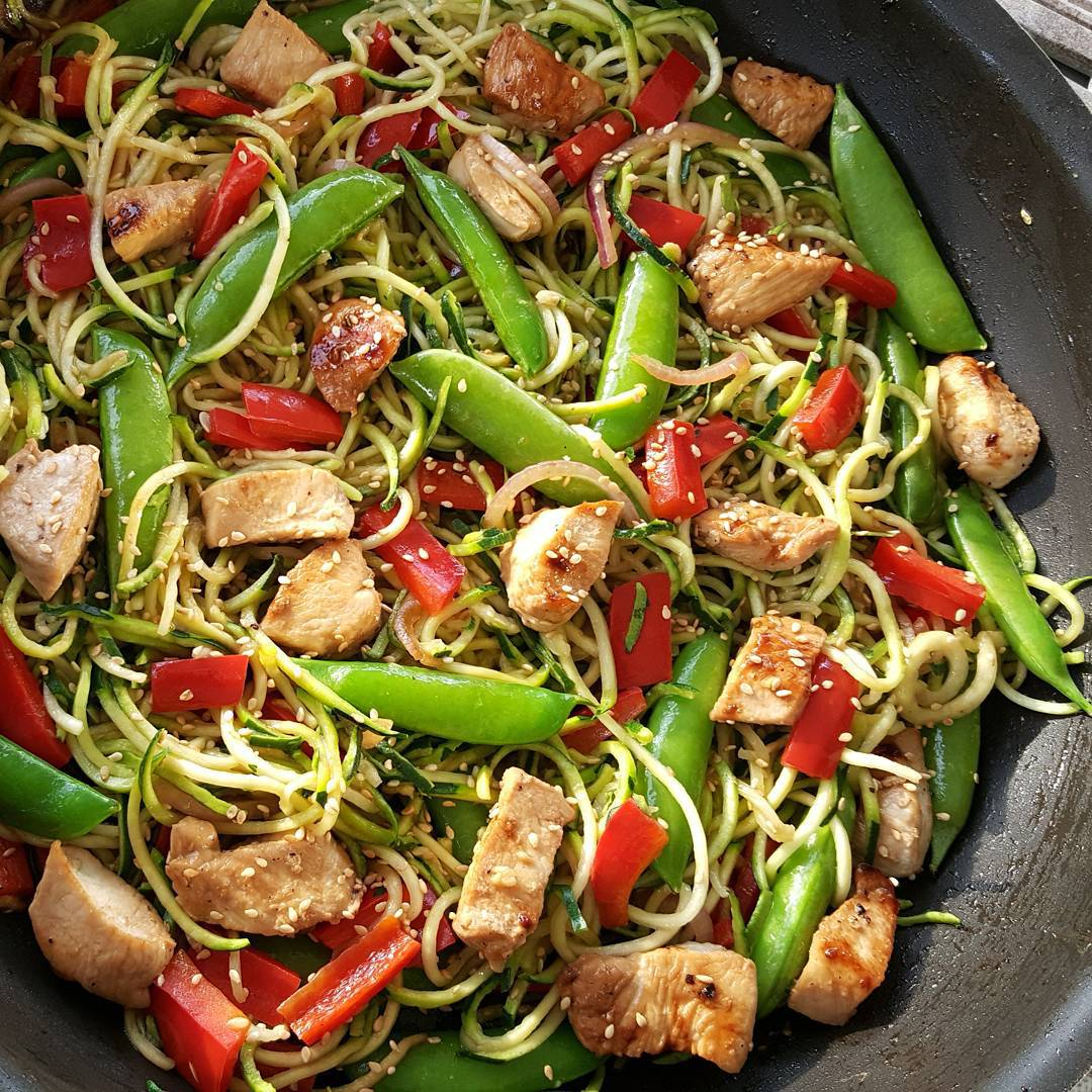 Asian Zucchini Noodle Stir-Fry