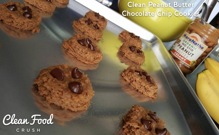 CleanFoodCrush Clean Peanut Butter Chocolate Chip Cookies http://cleanfoodcrush.com/pb-chocolate-cookies/