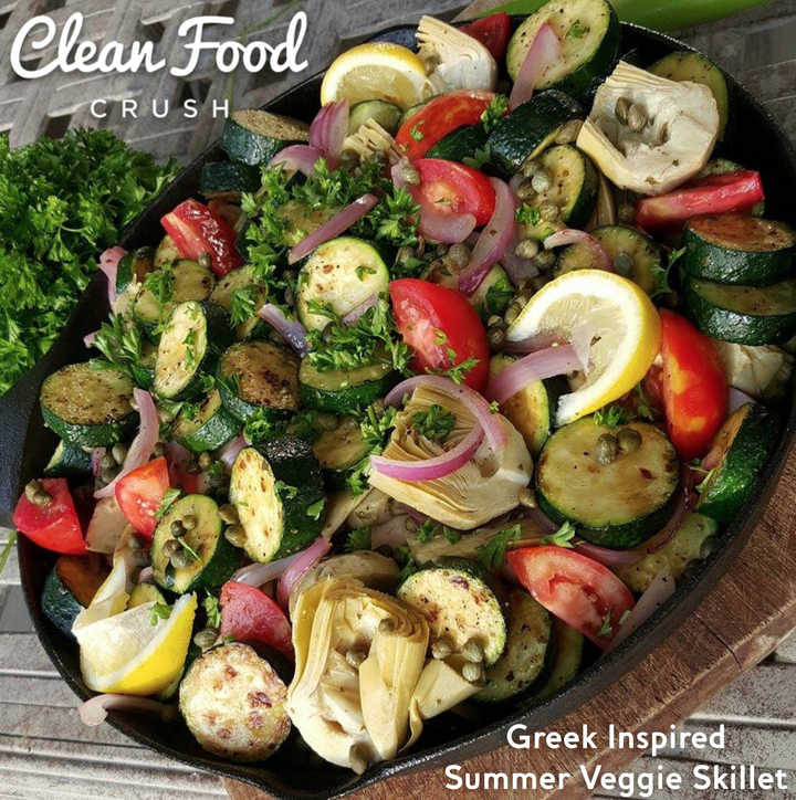 Greek Inspired Summer Veggie Skillet