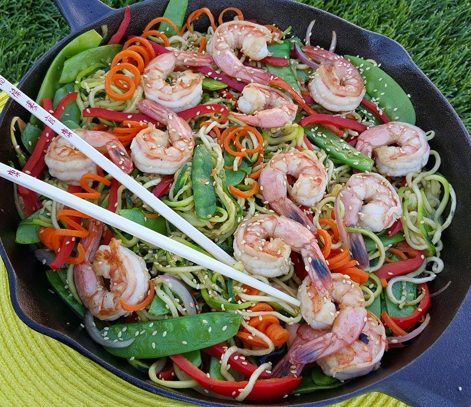 Asian Zoodle Stir Fry Recipe https://cleanfoodcrush.com/asian-zoodle-stir-fry