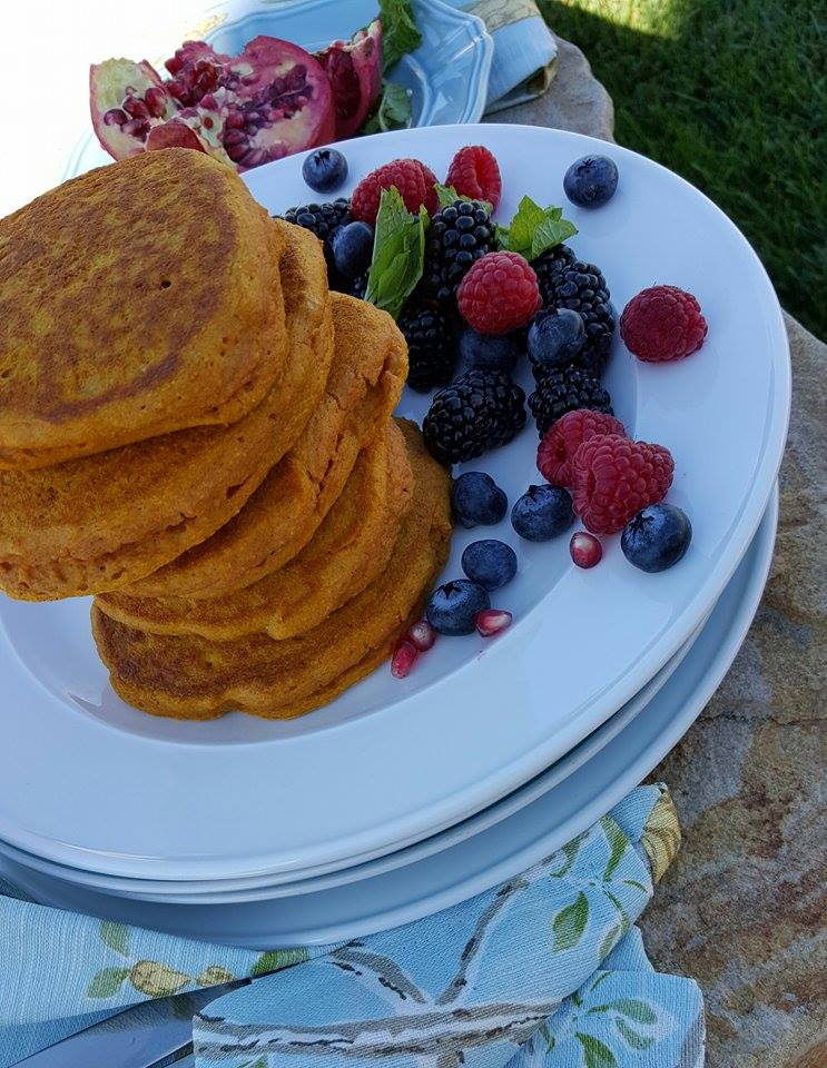 Clean Pumpkin Protein Pancakes Recipe https://cleanfoodcrush.com/best-pumpkin-protein-pancakes
