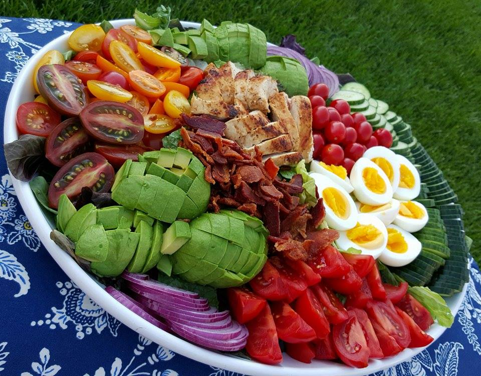Gigantic Chicken Cobb Salad https://cleanfoodcrush.com/ultimate-cobb-salad