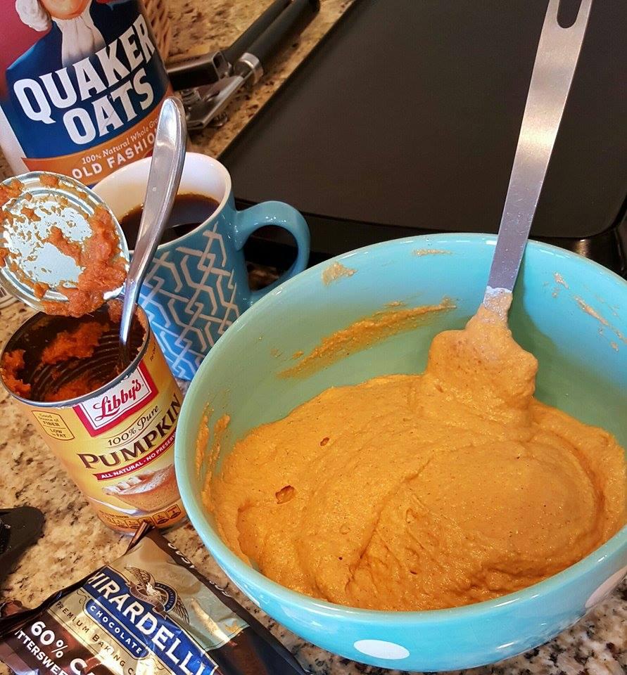 Pumpkin Protein Pancakes Prep https://cleanfoodcrush.com/best-pumpkin-protein-pancakes