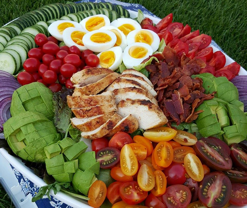 The Ultimate Chicken Cobb Salad http://cleanfoodcrush.com/ultimate-cobb-salad