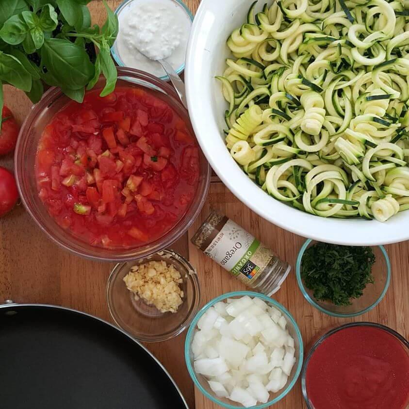 Zoodle Lasagna https://cleanfoodcrush.com/skillet-zoodle-lasagna
