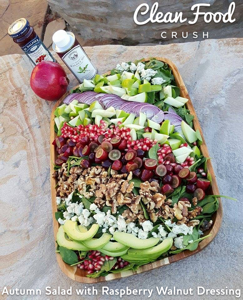 Autumn Salad With Raspberry Walnut Dressing