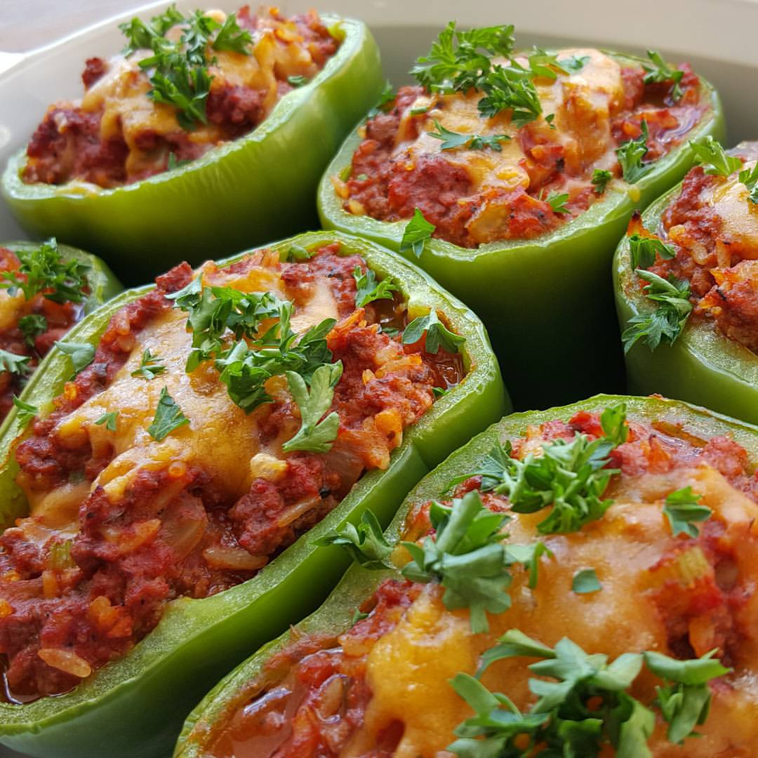 Brown Rice Stuffed Peppers ☺