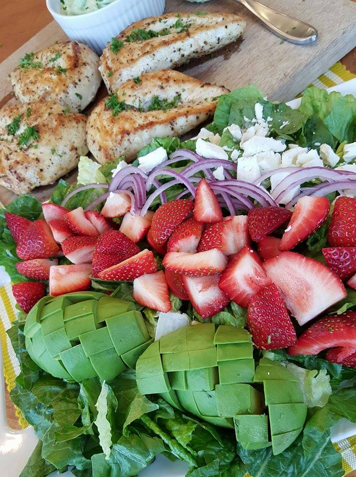 California Cobb Strawberry Salad https://cleanfoodcrush.com/california-cobb/