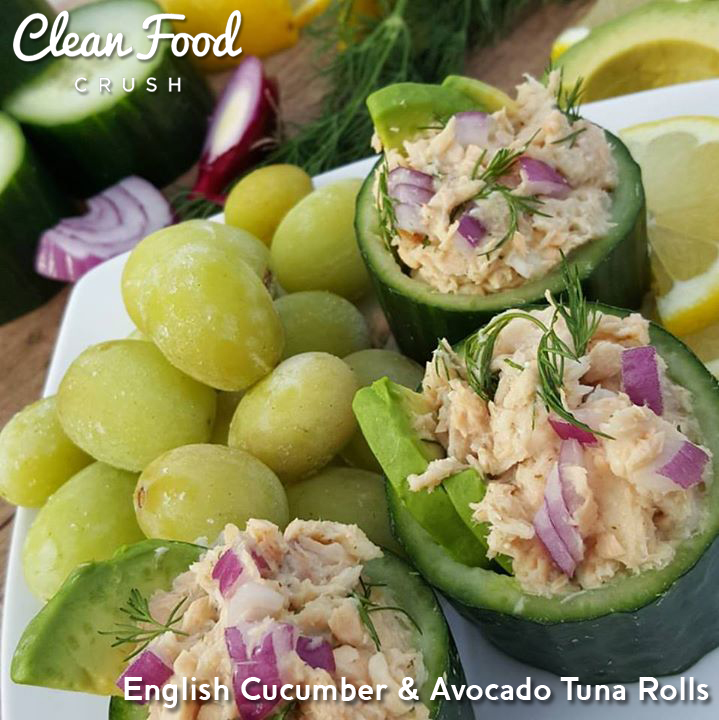 English Cucumber Avocado Tuna Rolls Clean Food Crush