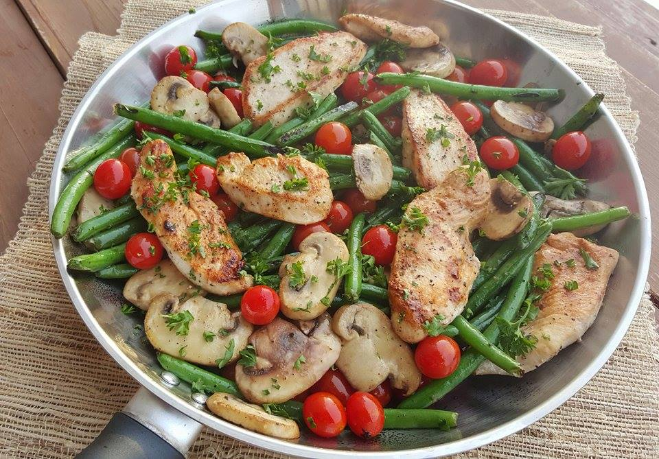 Balsamic Chicken Tenders Veggies Clean Eating Menu Plans https://cleanfoodcrush.com/balsamic-chicken/