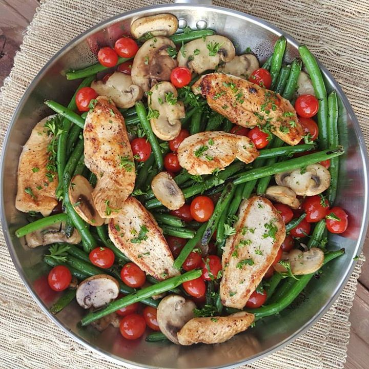 Balsamic Chicken Tenders w/ Veggies