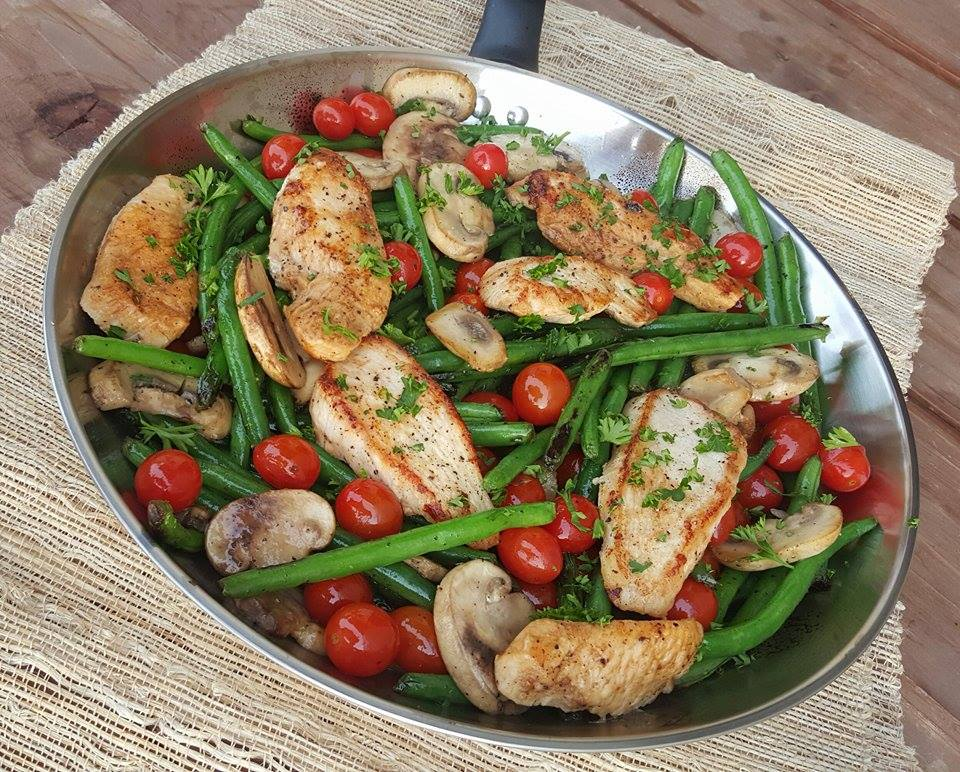 Clean Eating Recipe Balsamic Chicken Tenders and Veggies https://cleanfoodcrush.com/balsamic-chicken/