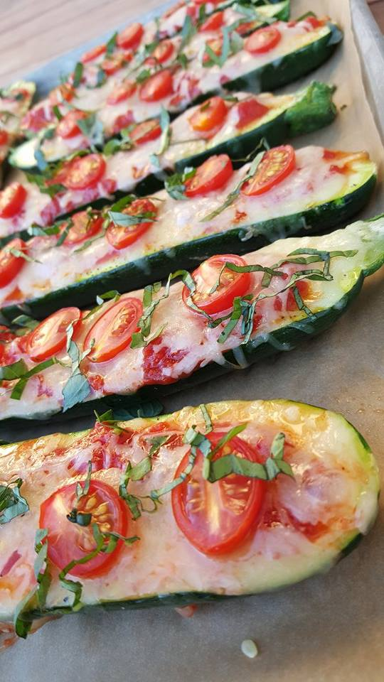Clean Eating Margherita Pizza Zucchini Boats Recipe https://cleanfoodcrush.com/margherita-pizza-boats/