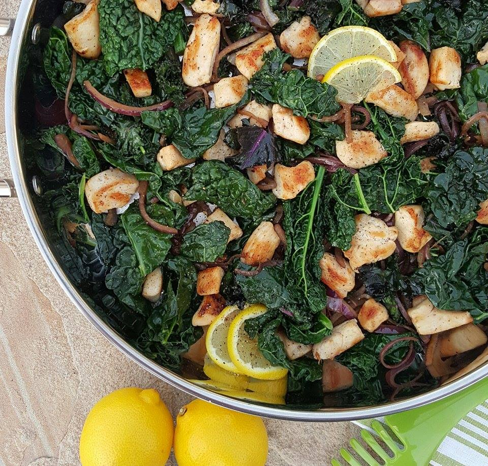 CleanFoodCrush Lemon Pepper Chicken & Kale Stir Fry Recipe https://cleanfoodcrush.com/lemon-chicken-kale-stir-fry/