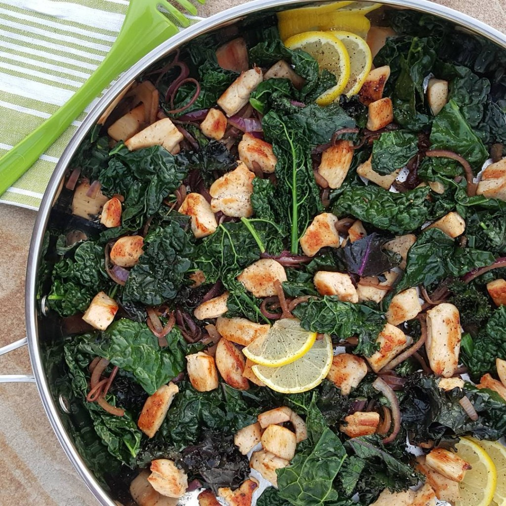 Lemon Pepper Chicken & Kale Stir Fry https://cleanfoodcrush.com/lemon-chicken-kale-stir-fry/