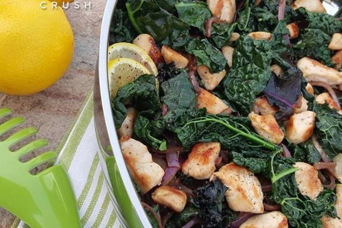 Lemon Pepper Chicken & Kale Stir Fry https://cleanfoodcrush.com/lemon-pepper-chicken-kale-stir-fry