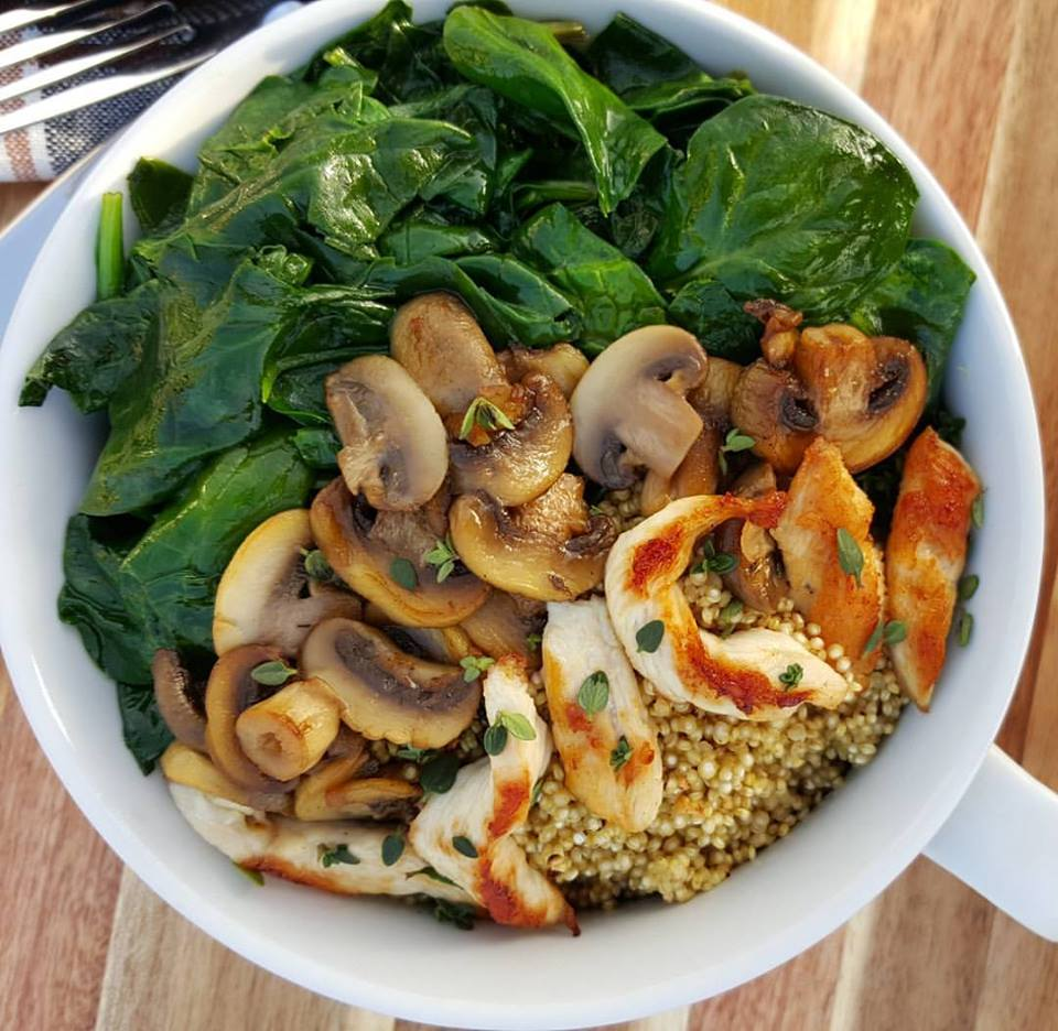 Mushroom and Chicken Marsala Clean Eating Bowls https://cleanfoodcrush.com/mushroom-chicken-marsala-clean-eating-bowls