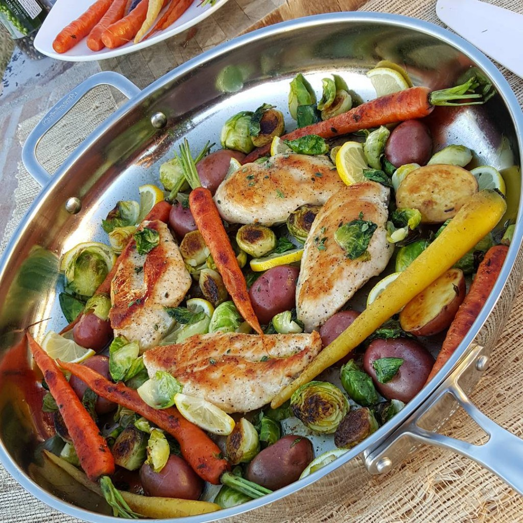 Spring Veggies and Skillet Chicken https://cleanfoodcrush.com/skillet-chicken-spring-veggies/