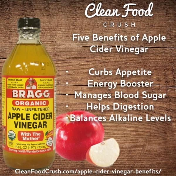 Five Benefits Of Apple Cider Vinegar Clean Food Crush