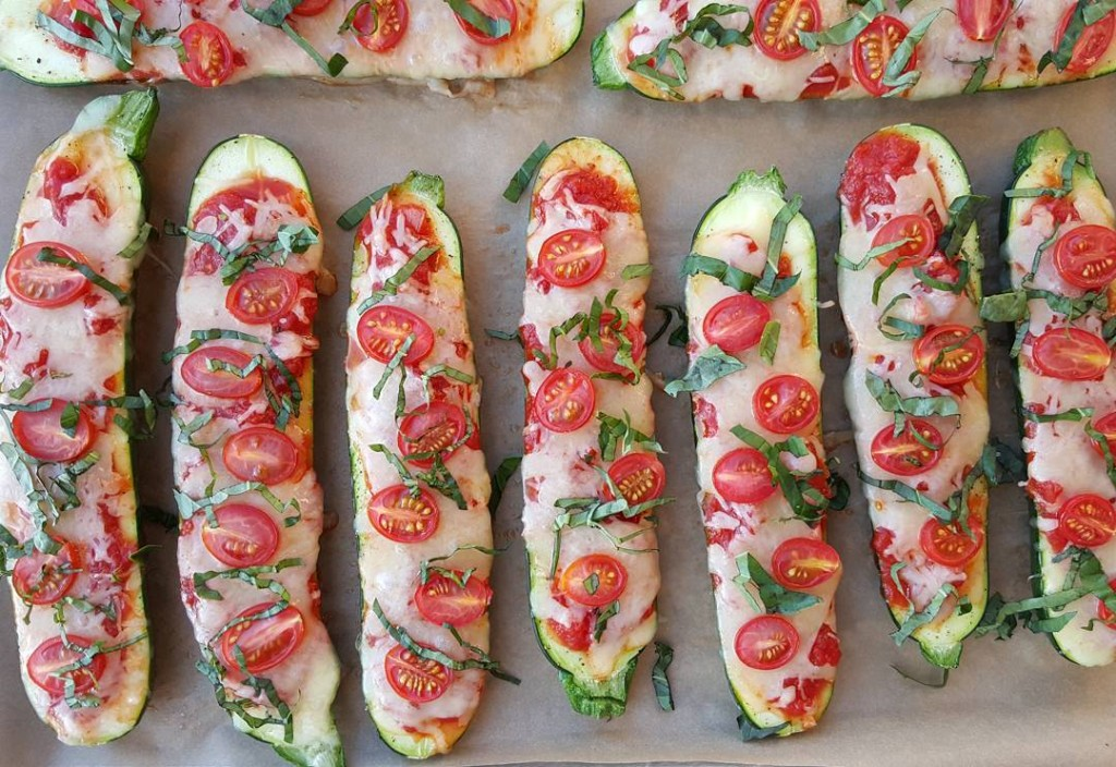 Zucchini Margherita Pizza Boats Clean Eating https://cleanfoodcrush.com/margherita-pizza-boats/ ‎