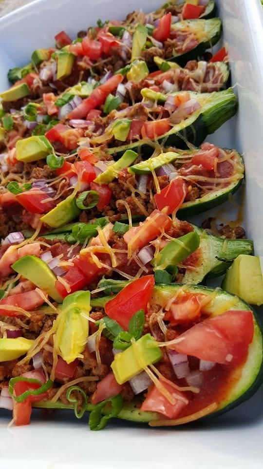 Beef Enchilada Zucchini Boats CleanFoodCrush Recipe https://cleanfoodcrush.com/beef-enchilada-zucchini-boats