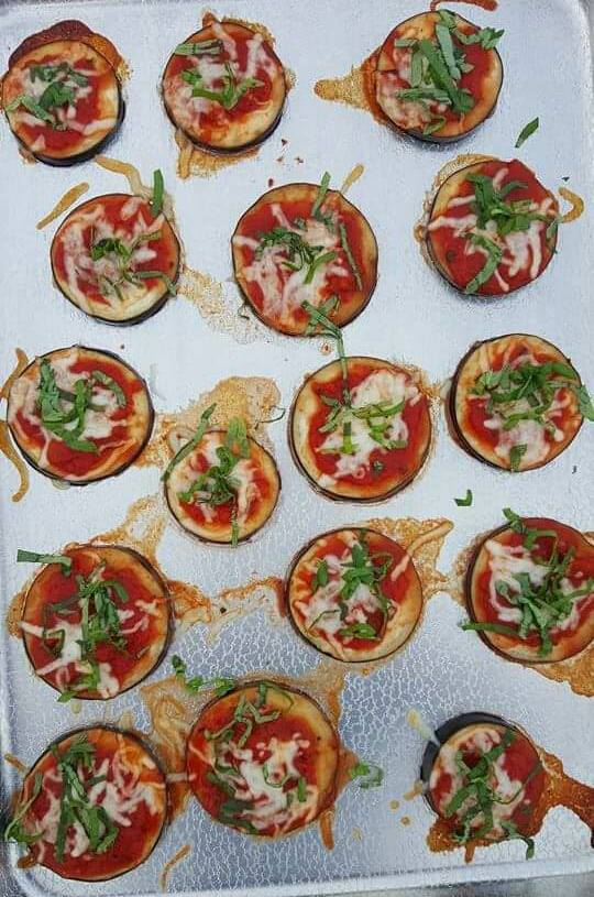 Clean Eating Mini Eggplant Pizzas