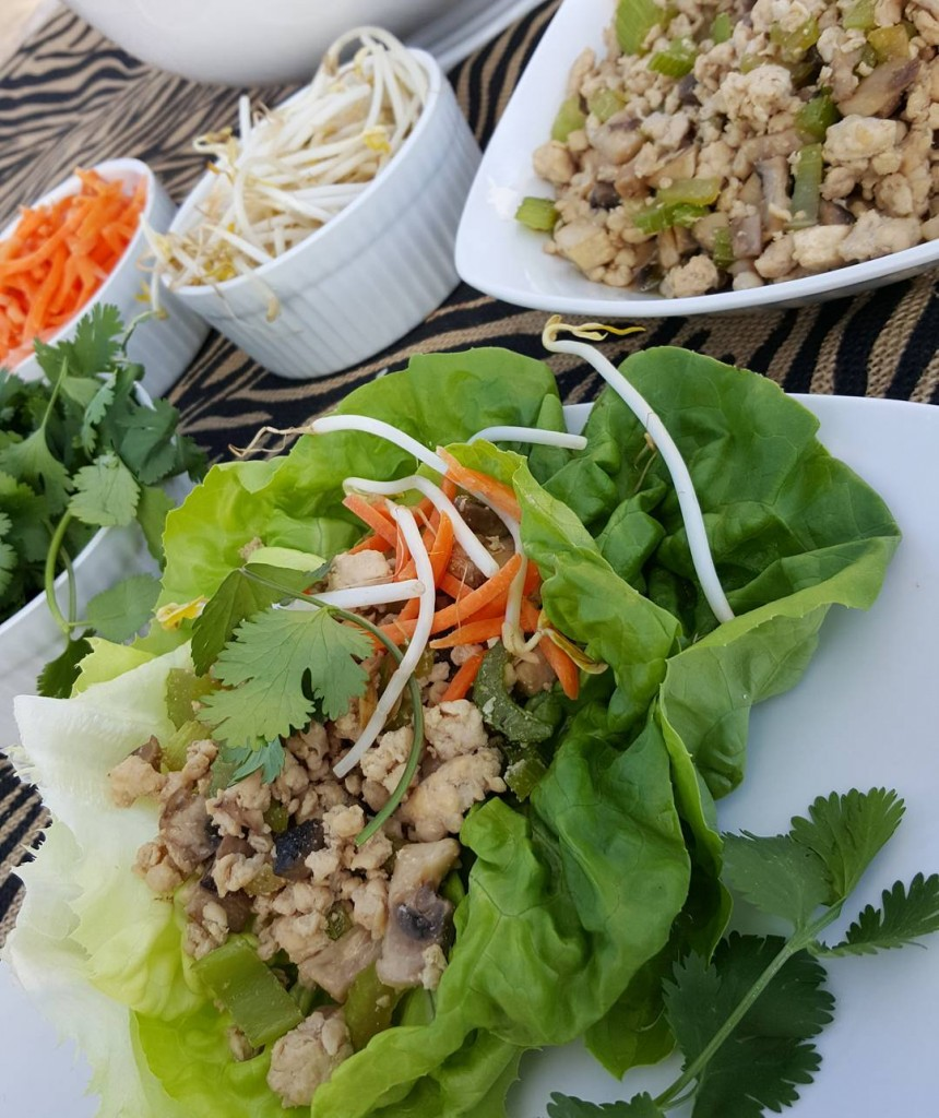 Clean Eating Turkey Lettuce Wraps Recipe https://cleanfoodcrush.com/turkey-lettuce-wraps
