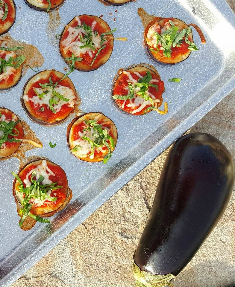 Mini Eggplant Pizzas Bites Clean Eating https://cleanfoodcrush.com/mini-eggplant-pizzas/