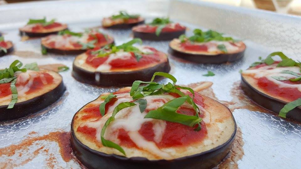 Mini Eggplant Pizza Bites
