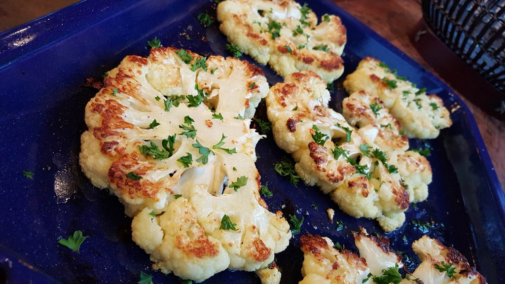 Clean Eating Cauliflower Steaks