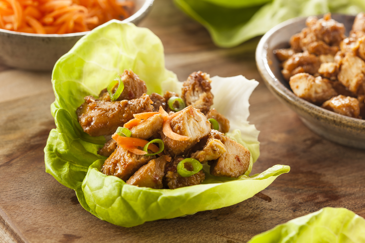 Honey Sesame Chicken Lettuce Wraps Clean Food Crush