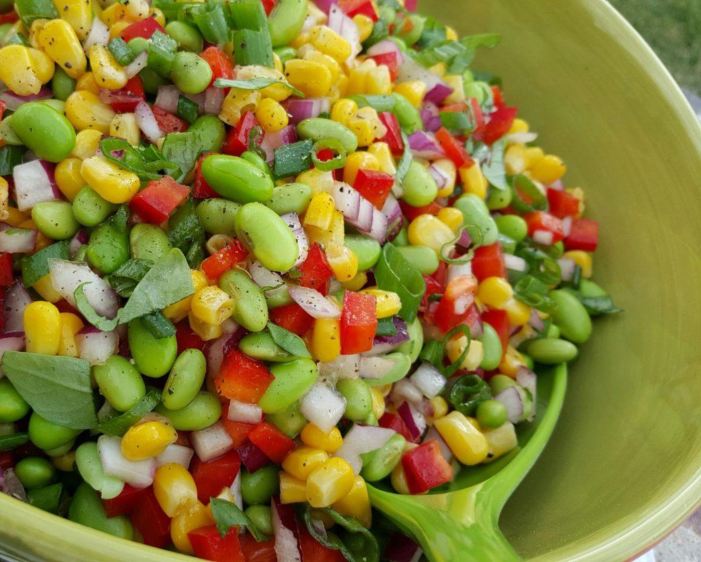 Clean Eating Edamame Summer BBQ Salad https://cleanfoodcrush.com/edamame-salad/