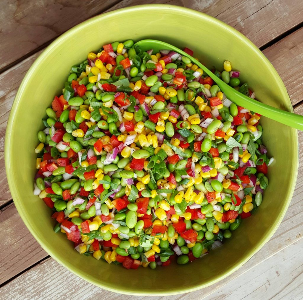 Edamame summer bbq salad clean food crush for Easy salad ideas for bbq