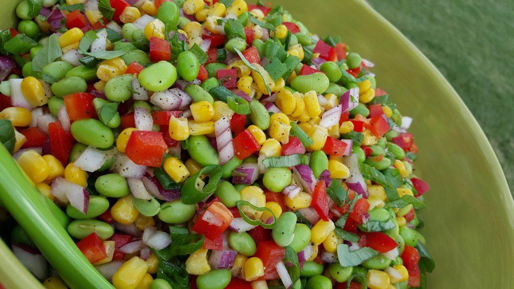 Edamame Summer BBQ Salad CleanFoodCrush https://cleanfoodcrush.com/edamame-salad/