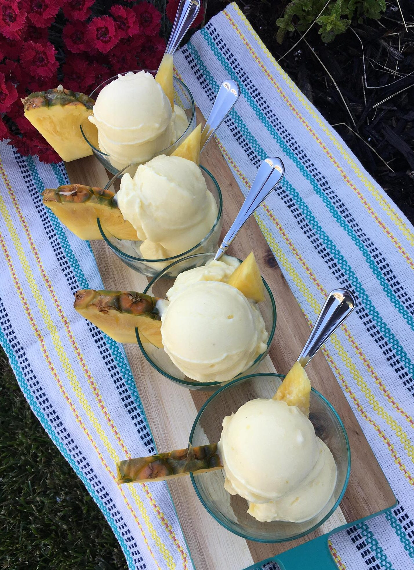 Frozen Whipped Pineapple Nice Cream https://cleanfoodcrush.com/pineapple-whip/