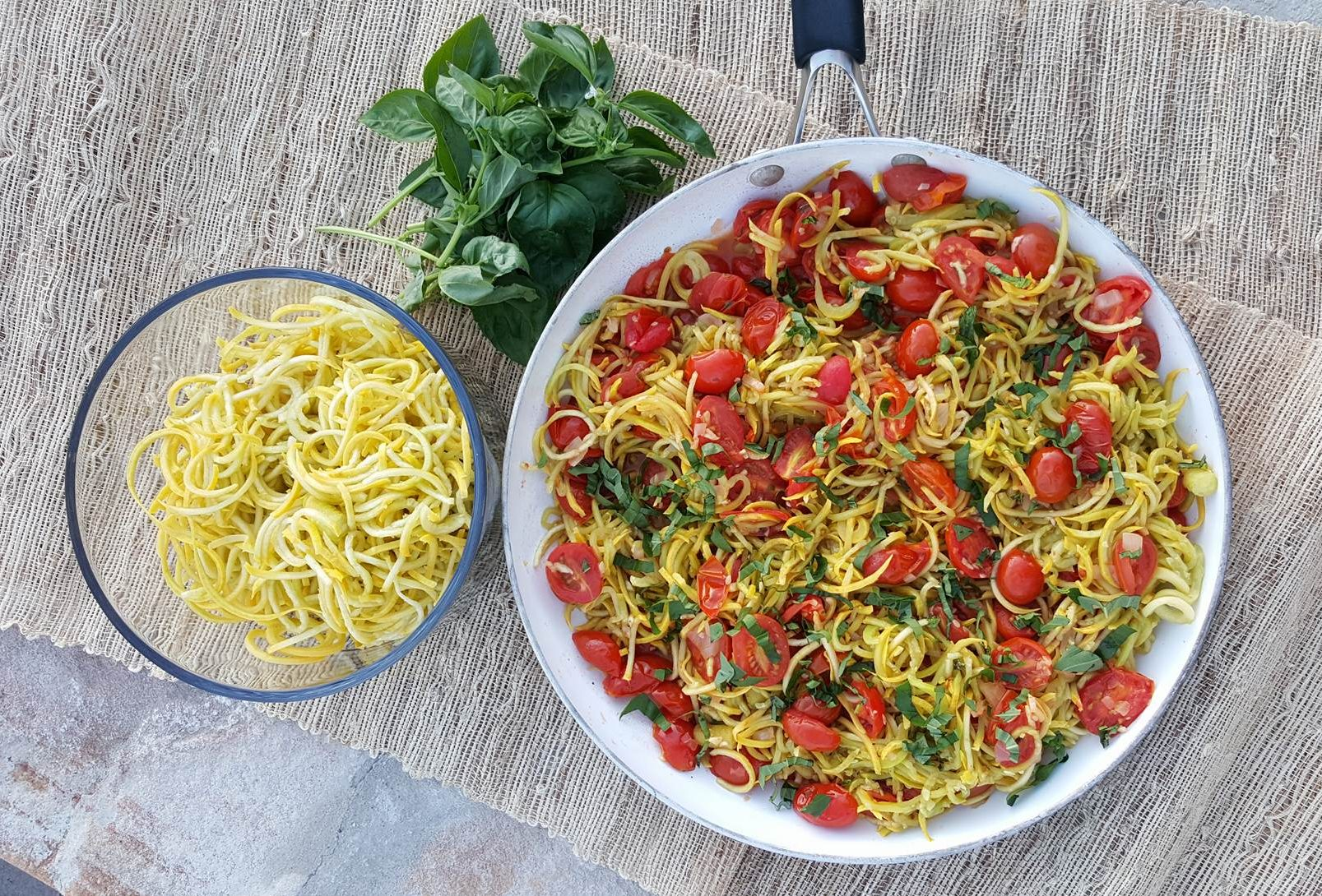 Yellow Summer Squash 'Spaghetti' with Roasted Tomato Sauce ...