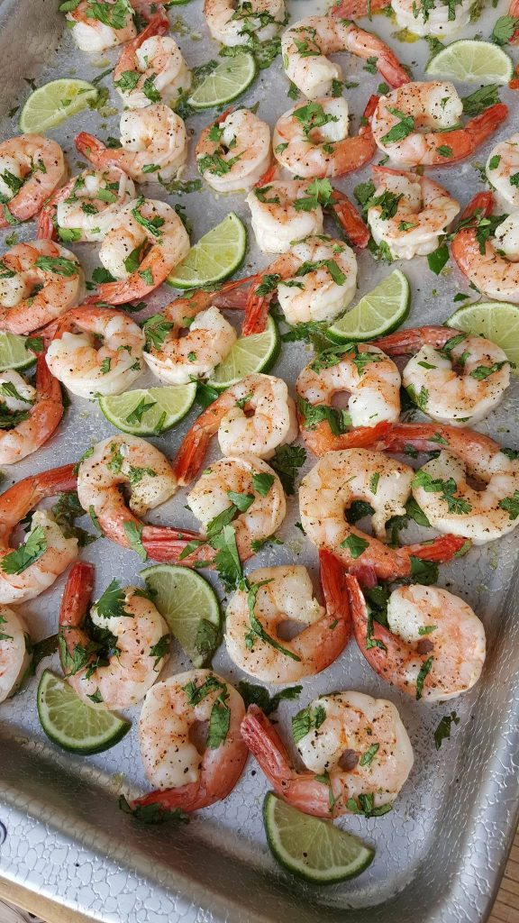 Cilantro-Lime Shrimp One-Pan Meal https://cleanfoodcrush.com/cilantro-lime-shrimp/
