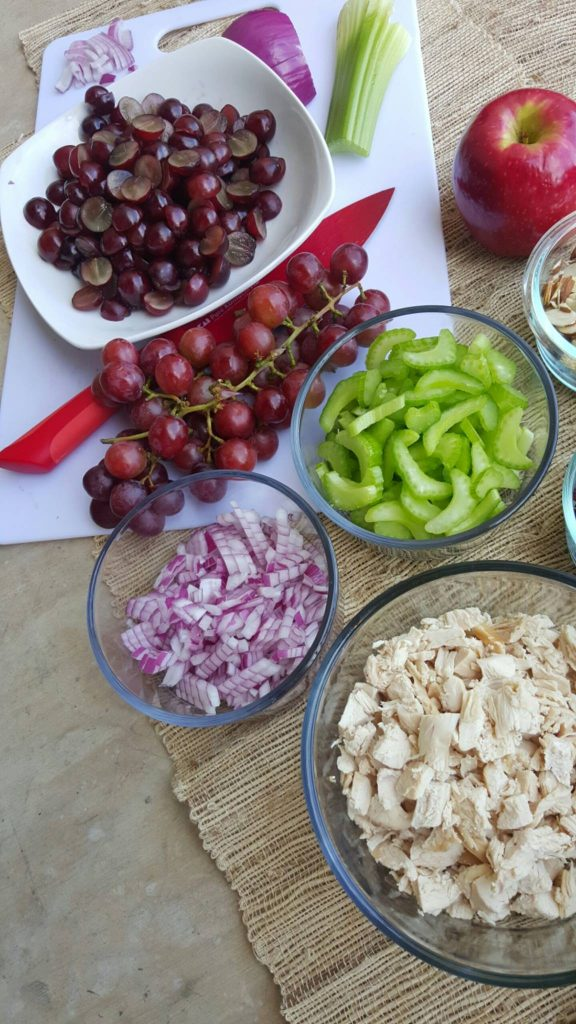 Clean Eating Chicken Salad Prep
