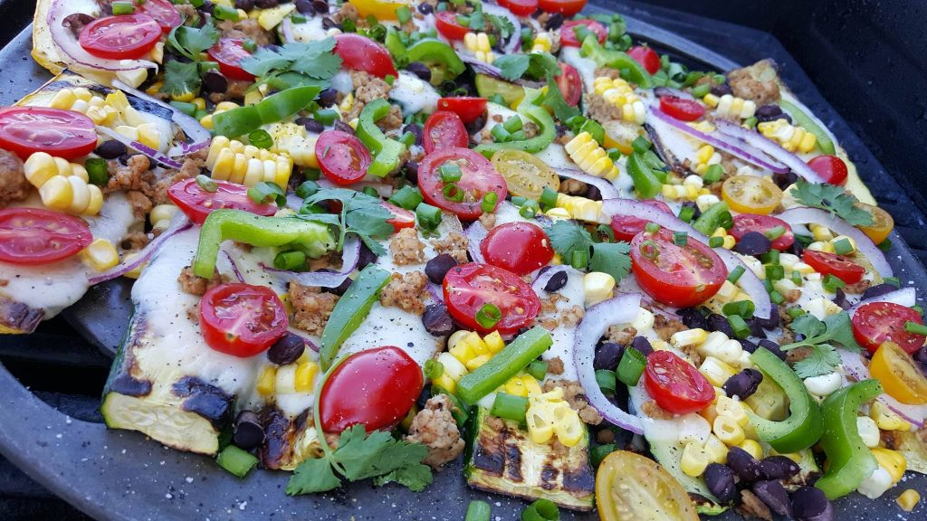 Grilled Zucchini Mexican Pizzas CleanFoodCrush Recipe https://cleanfoodcrush.com/mexican-pizza/
