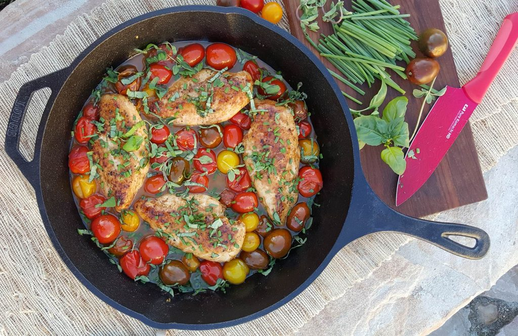 Balsamic Glazed Chicken w/ Heirloom Tomatoes & Fresh Herbs