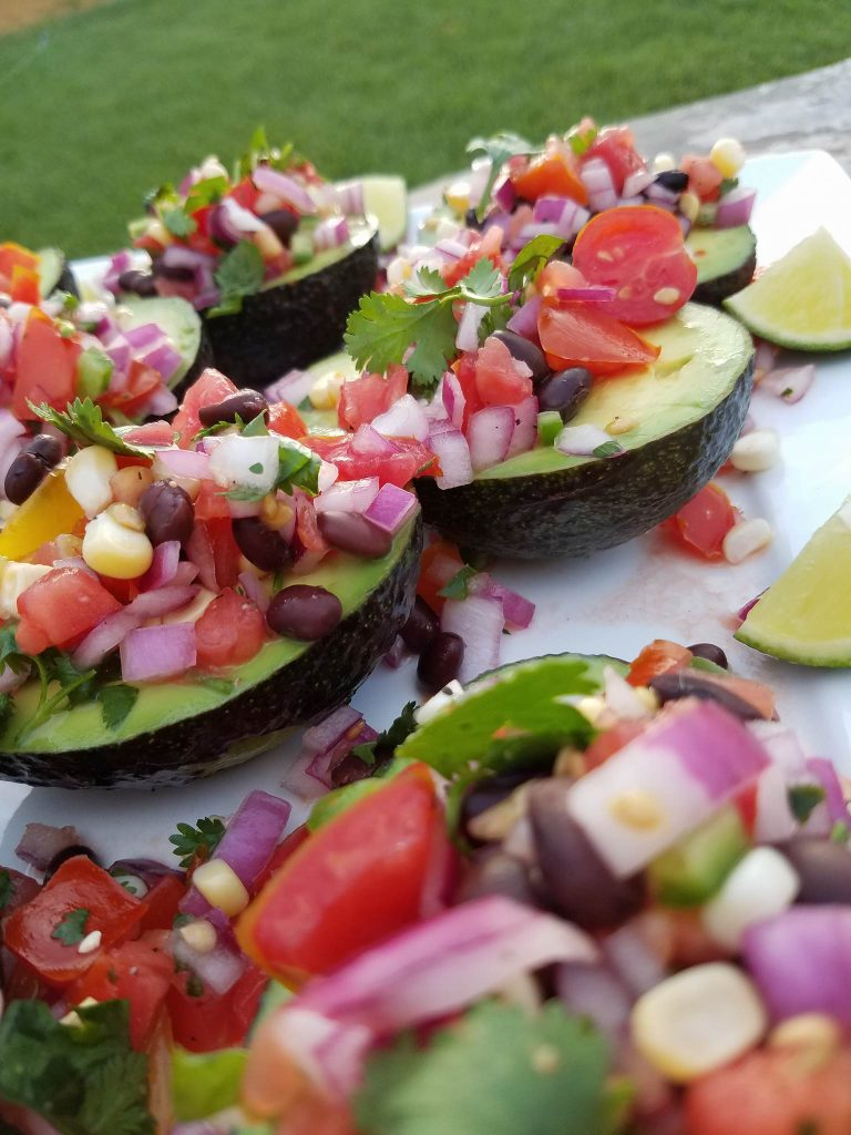 Fiesta Avocado Cups https://cleanfoodcrush.com/avocado-cups/