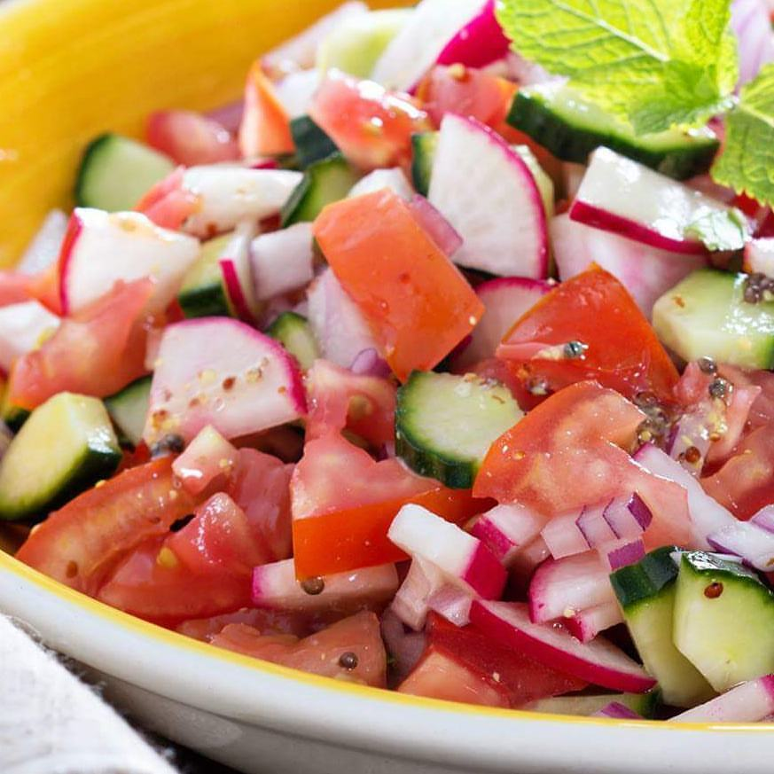 Simple Summer Side Salad Clean Eating Recipe  https://cleanfoodcrush.com/summer-side-salad/