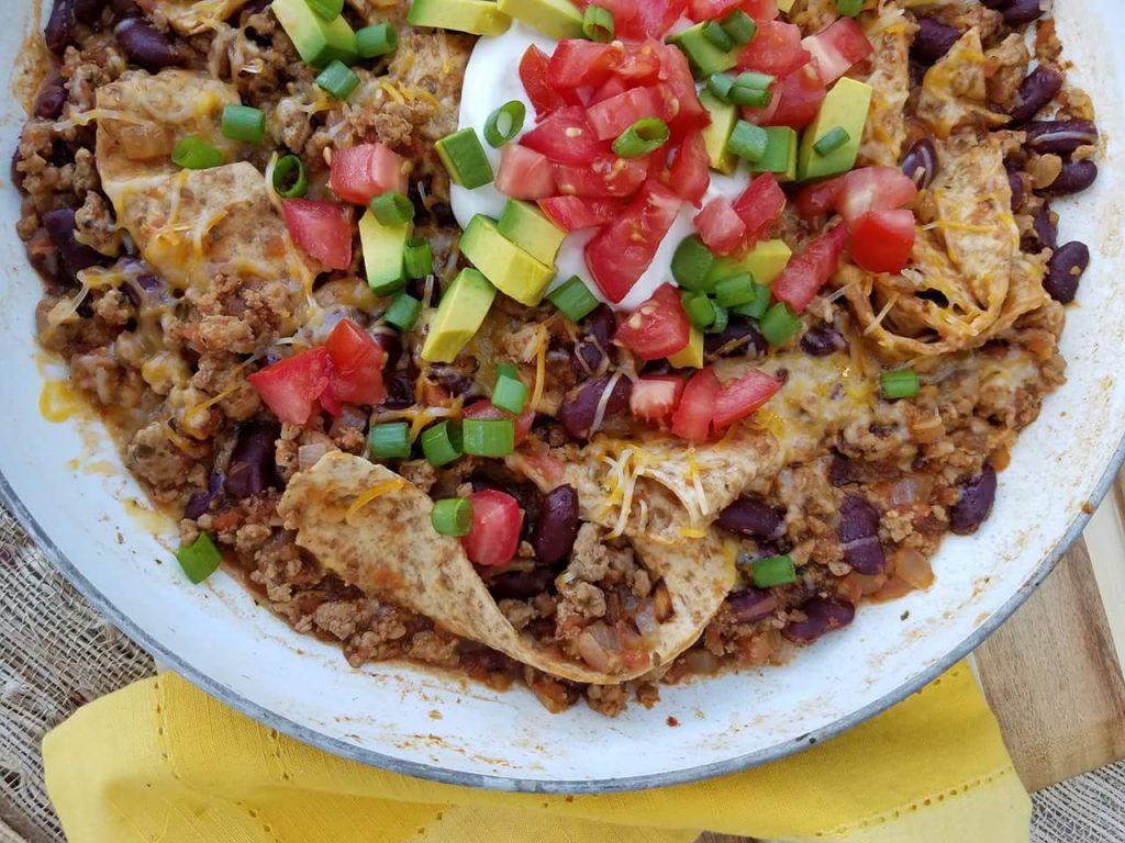 Skillet Burrito Bowl https://cleanfoodcrush.com/burrito-skillet/
