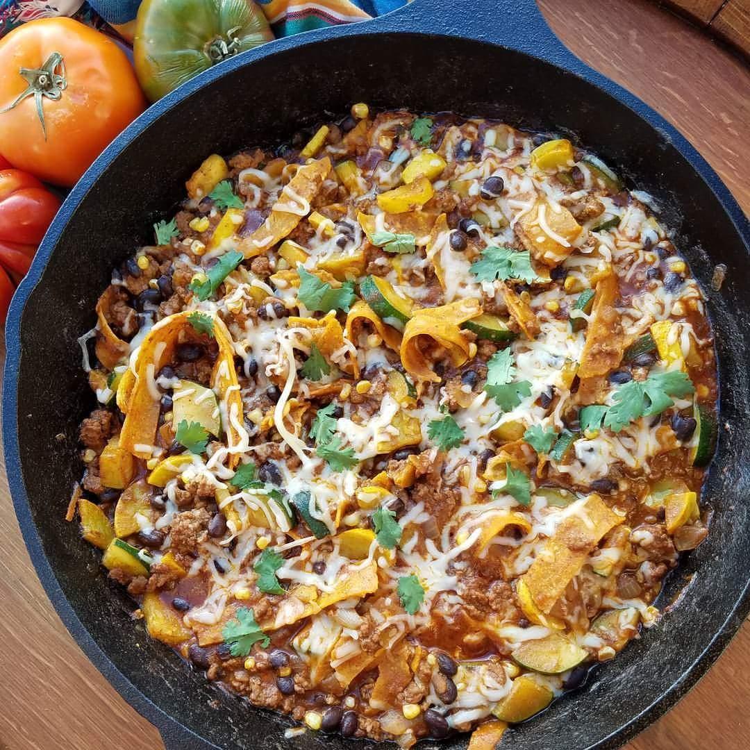 Chopped Enchilada Skillet https://cleanfoodcrush.com/chopped-enchilada-skillet/