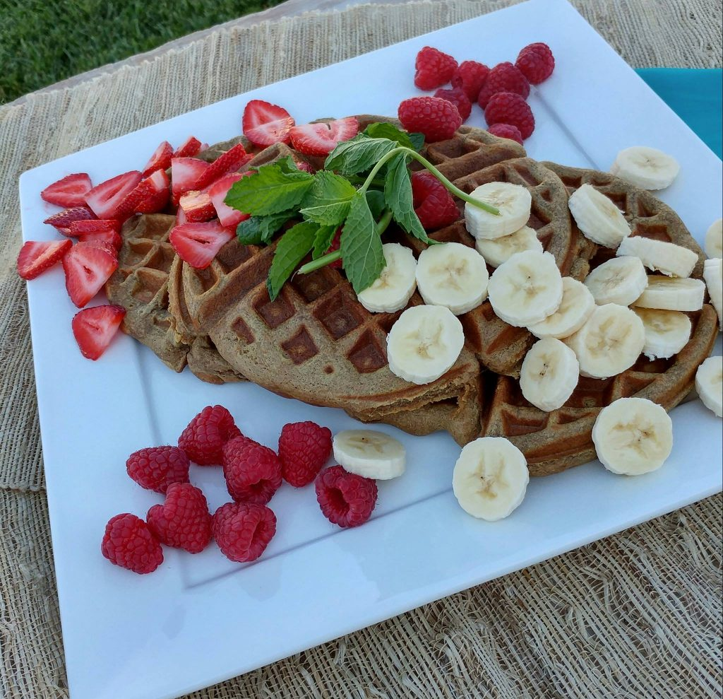 Clean Eating Grain free Banana Almond Waffles  https://cleanfoodcrush.com/banana-almond-waffles/