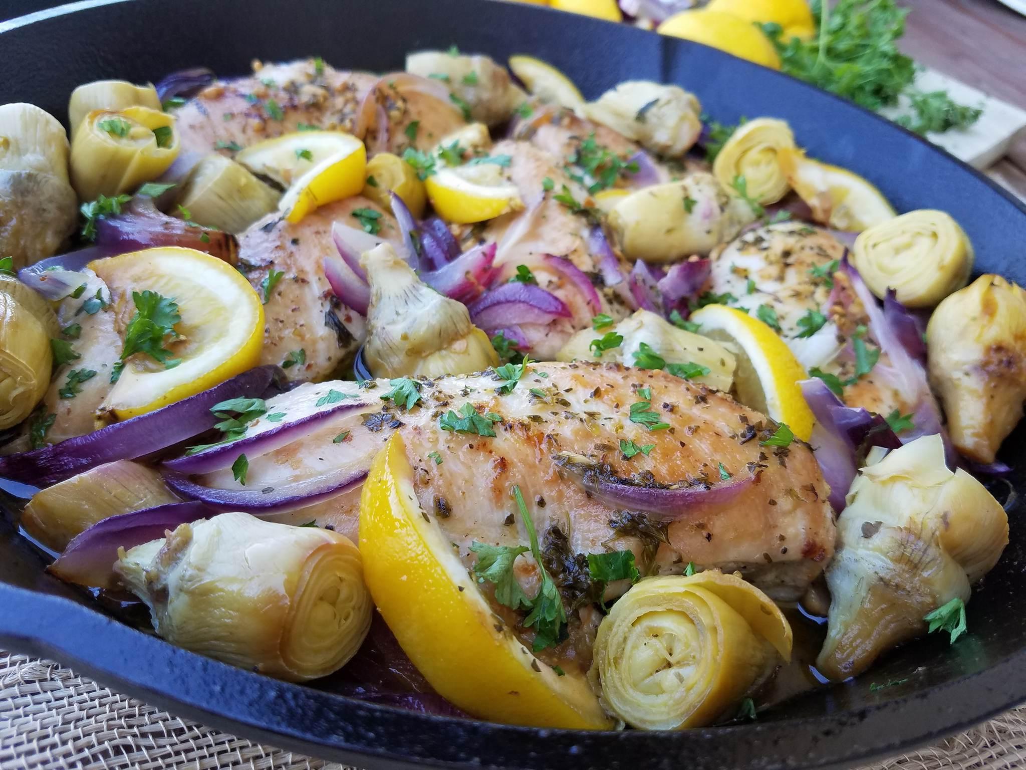 1 Pan Lemon Artichoke Chicken Clean Food Crush