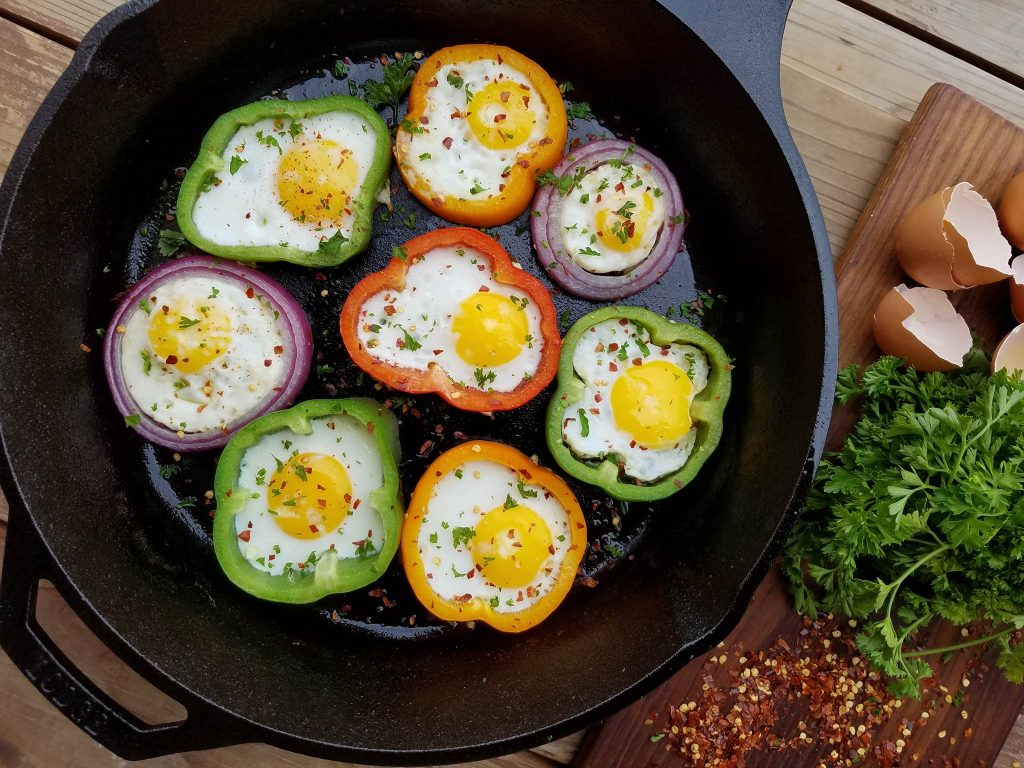 Egg in Rings Skillet https://cleanfoodcrush.com/egg-rings/